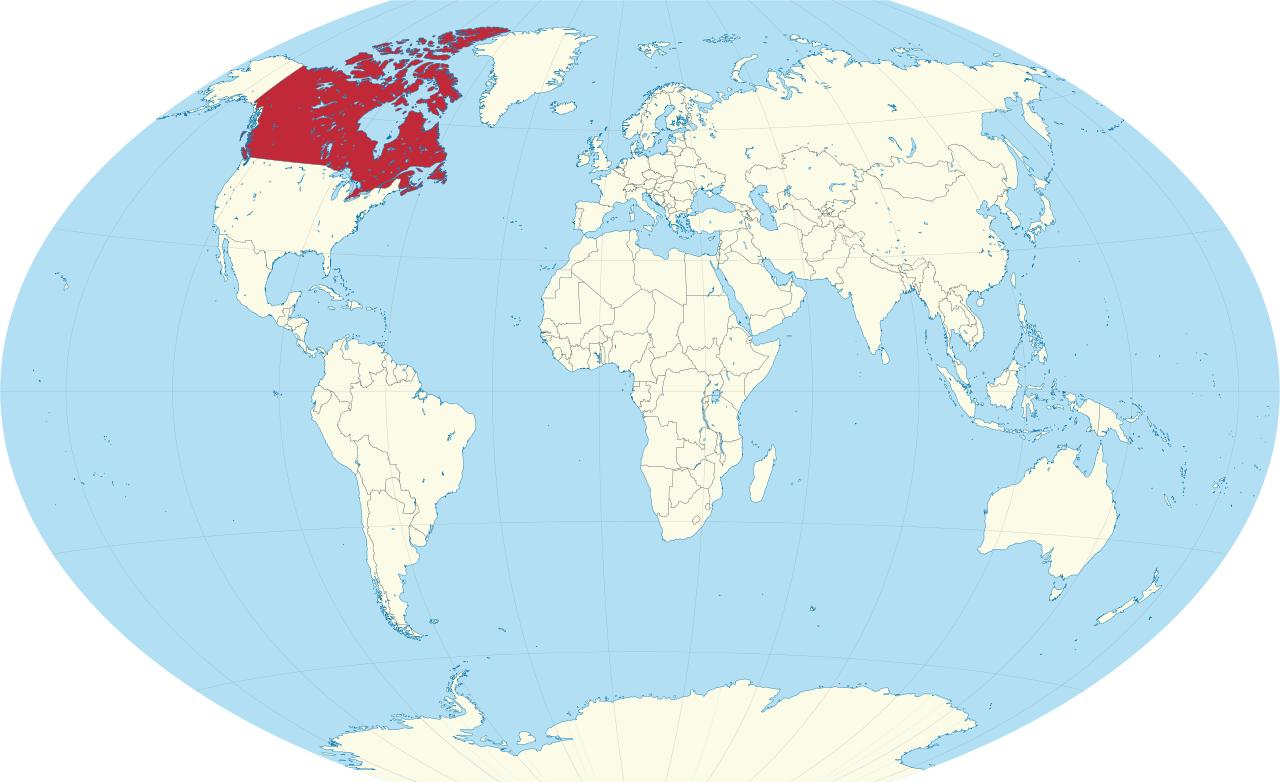Canada Carte Du Monde.Canada Pays La Carte Du Monde La Carte Du Monde Avec Le