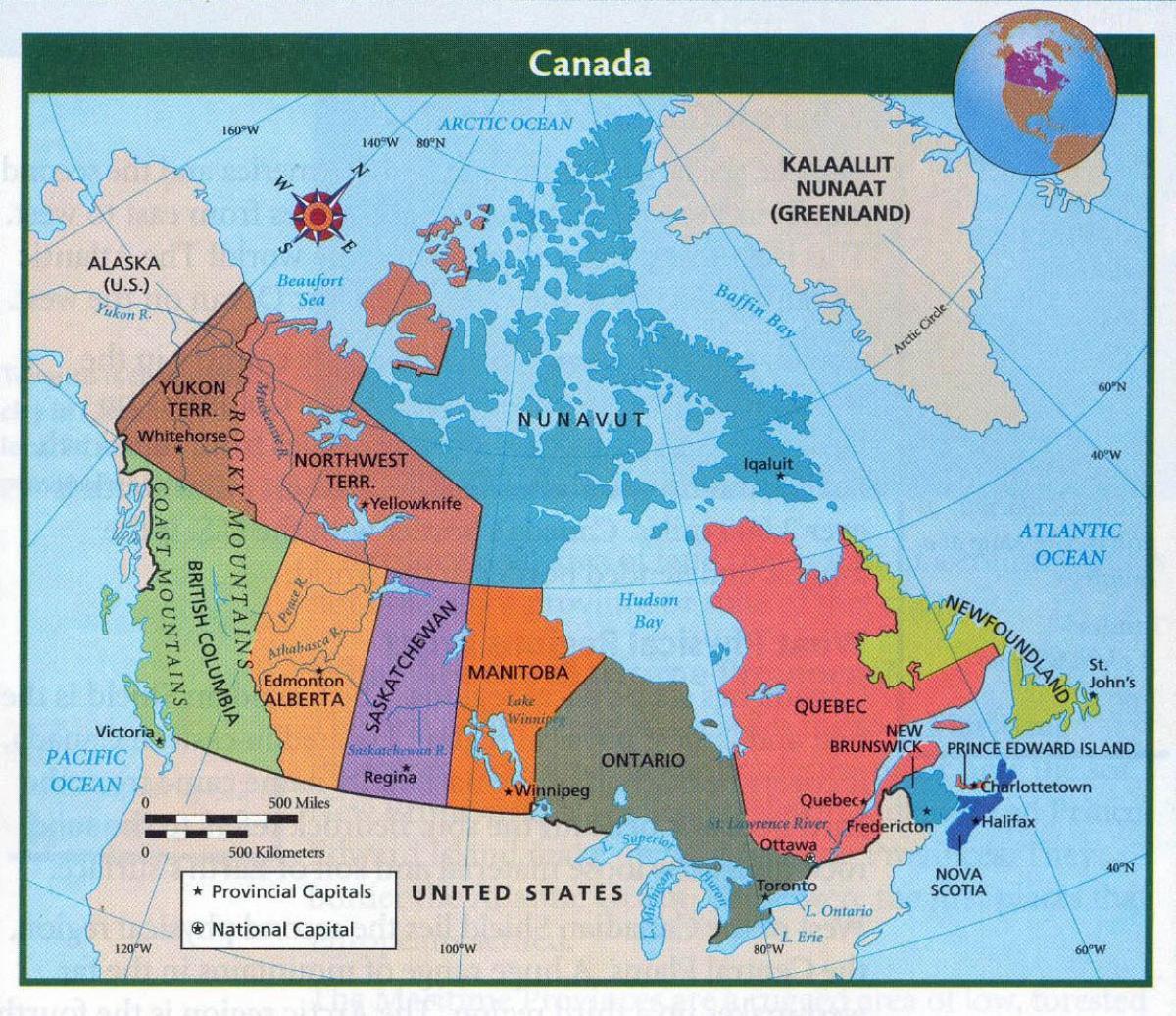 Carte Canada Avec Ville.Carte Du Canada Avec Les Grandes Villes Carte Du Canada Et Dans