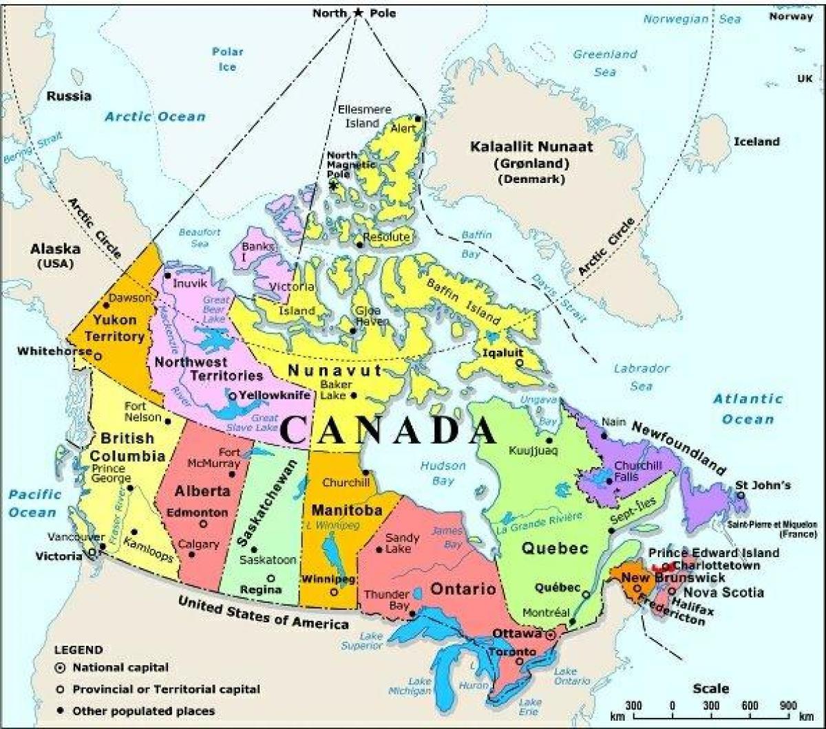Carte Canada Ouest.L Ouest Du Canada Carte Avec Les Villes Carte De L Ouest